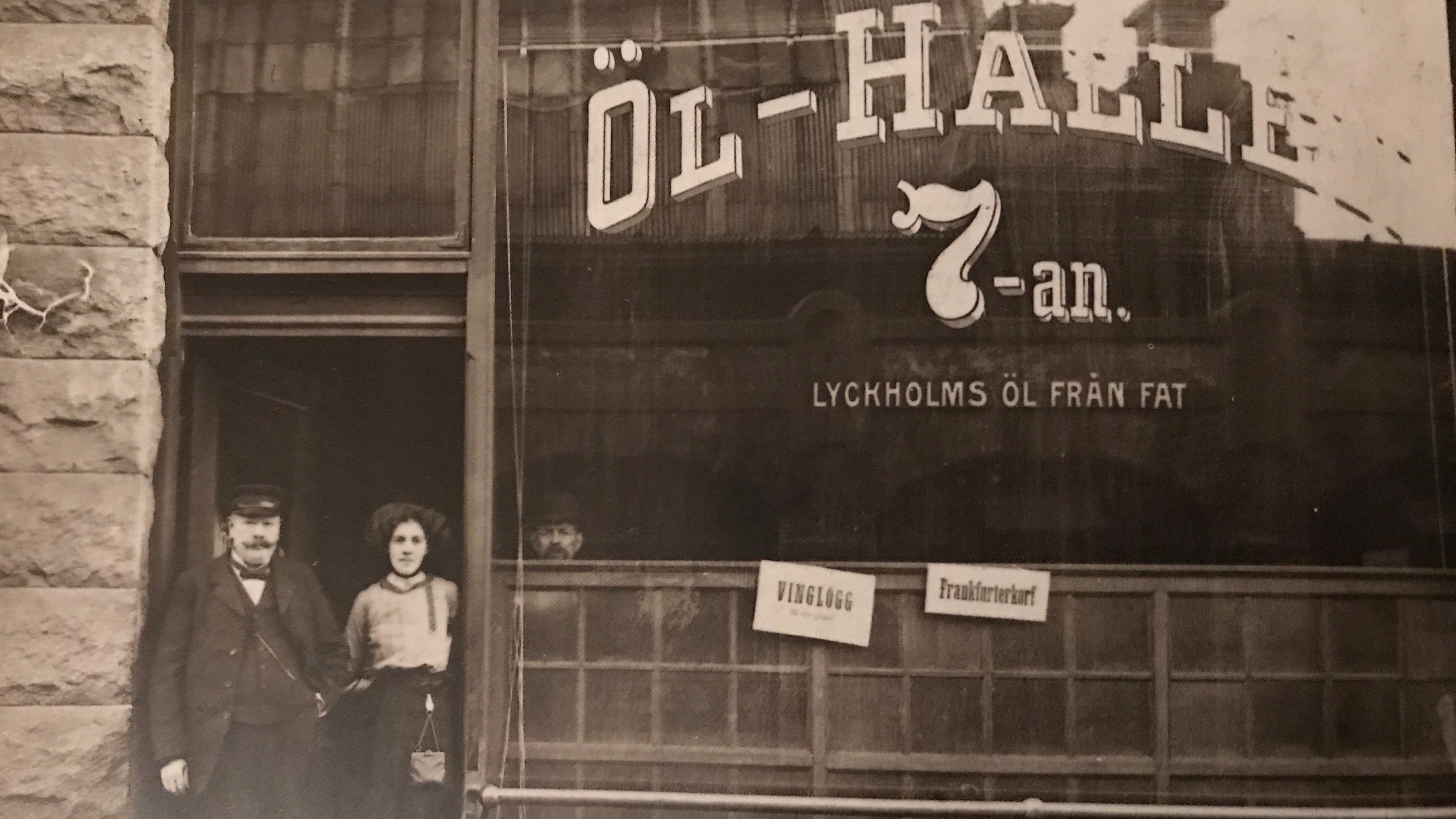 Old photo of Ölhallen 7:an, Gothenburg.