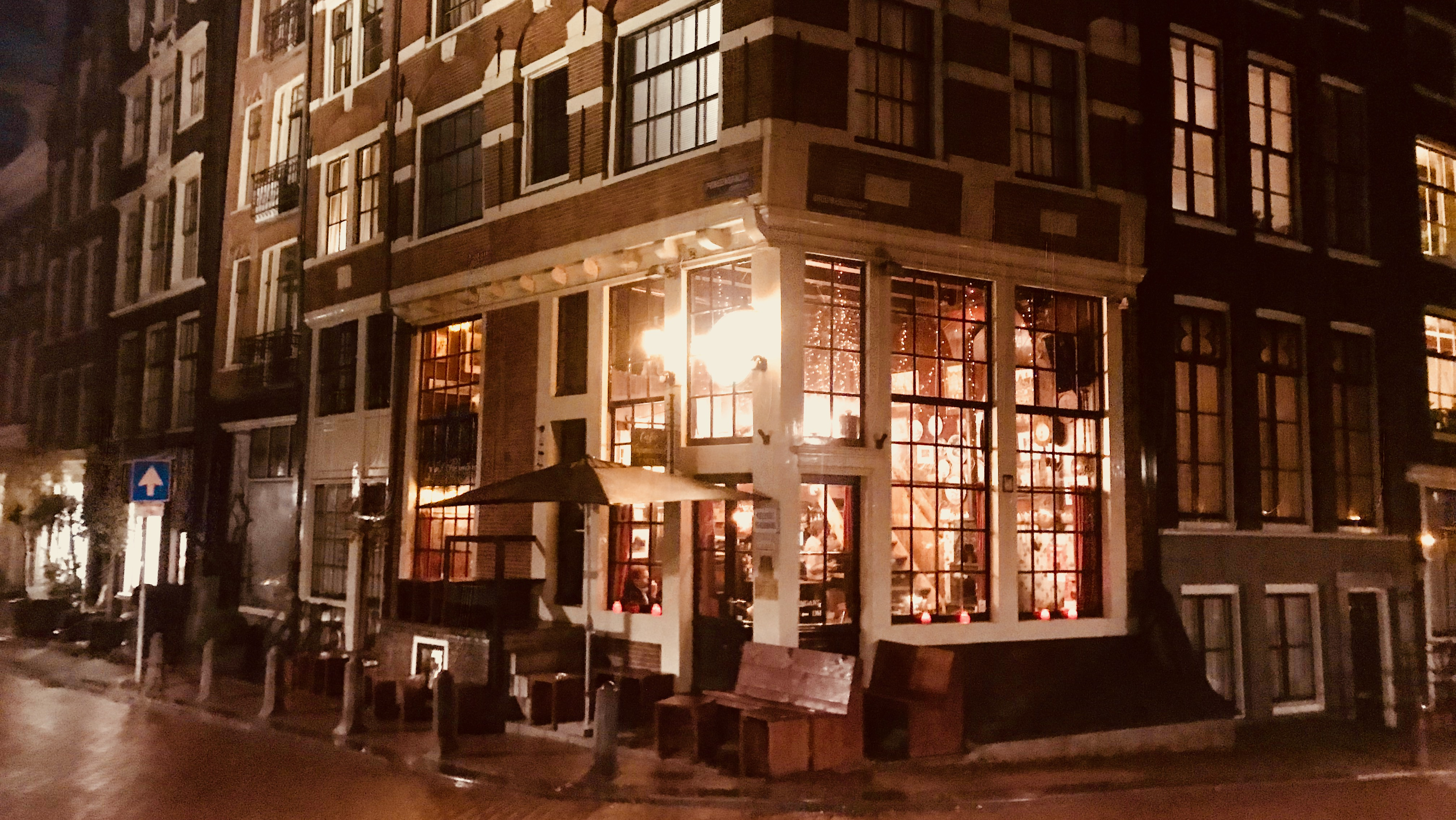 Café Papeneiland in Amsterdam. Historic place.