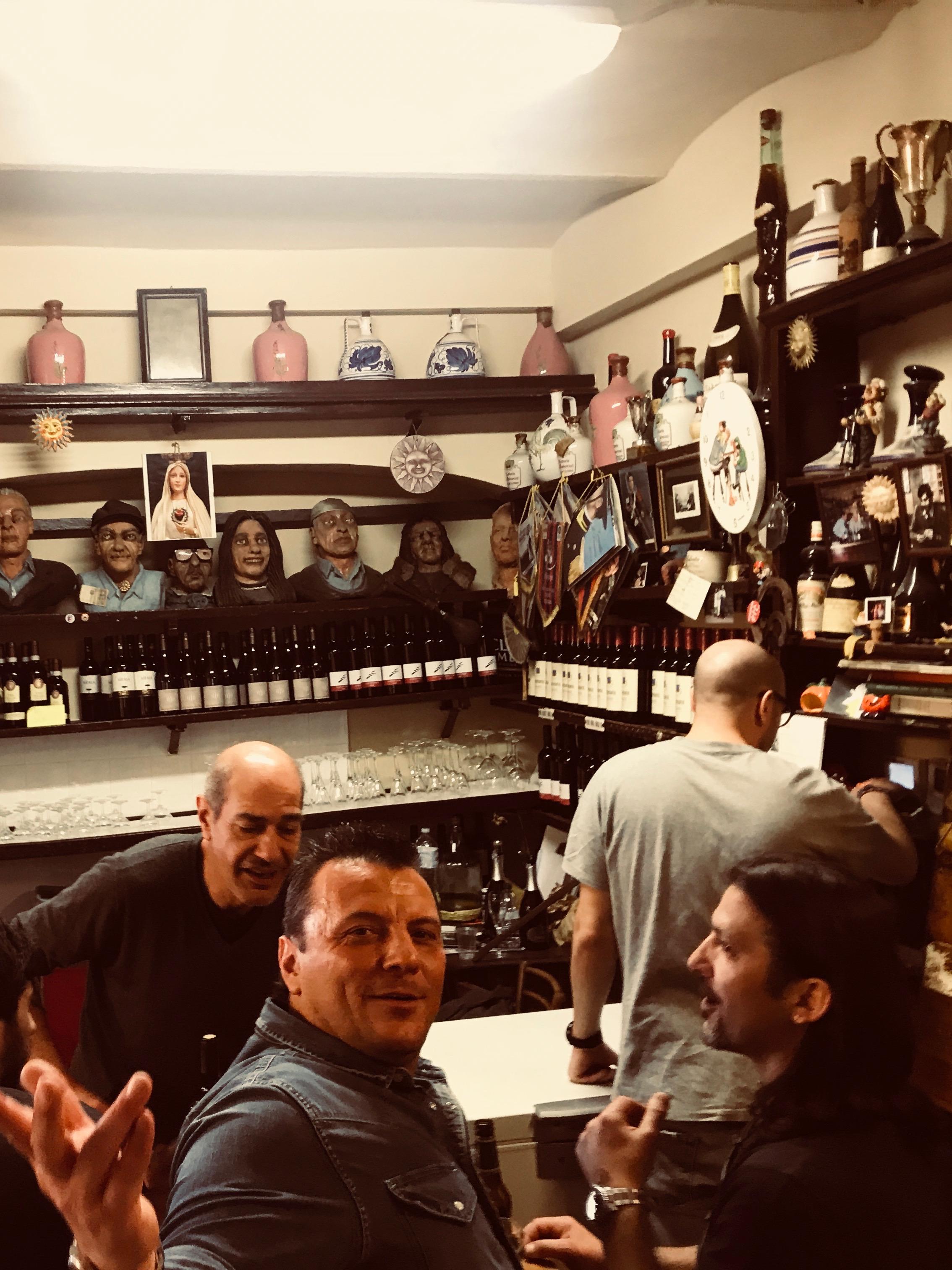 The bar at Osteria Del Sole.