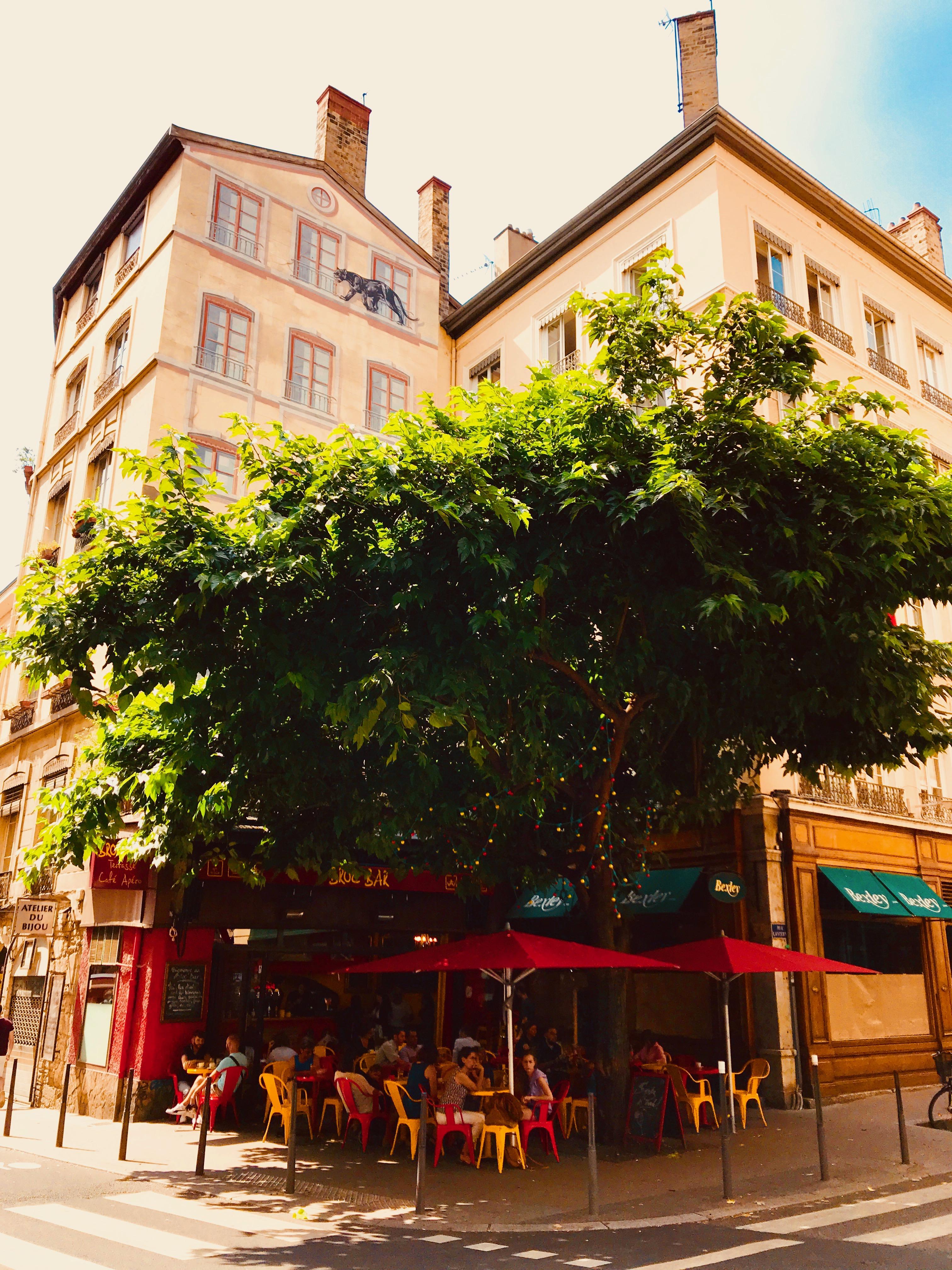 Outside Broc'Bar, Lyon.