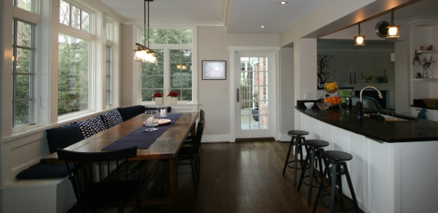 This Project Involved The Addition Of A Great Room Off Back House And Fully Remodeled Kitchen Additional Space Was Created On Second Floor
