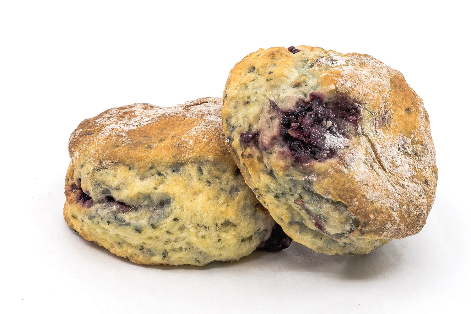Blackberry Mint 'Julep' Cream Scones