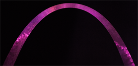 Gateway Arch Lit Pink for Breast Cancer Awareness