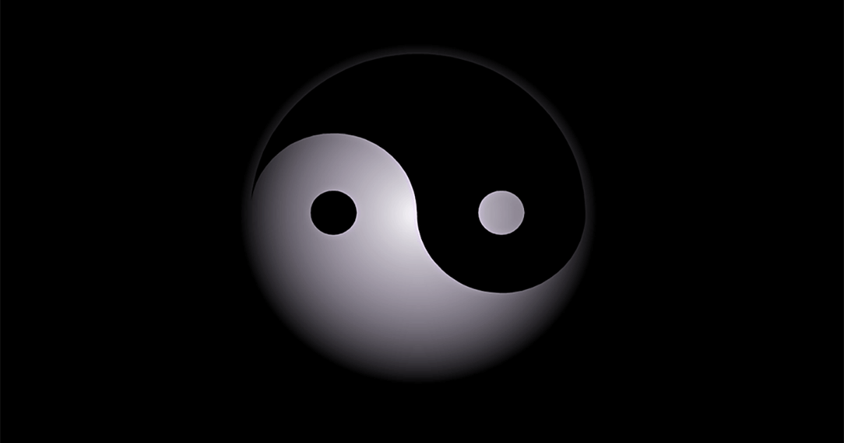The good and the bad of Yin and Yang.