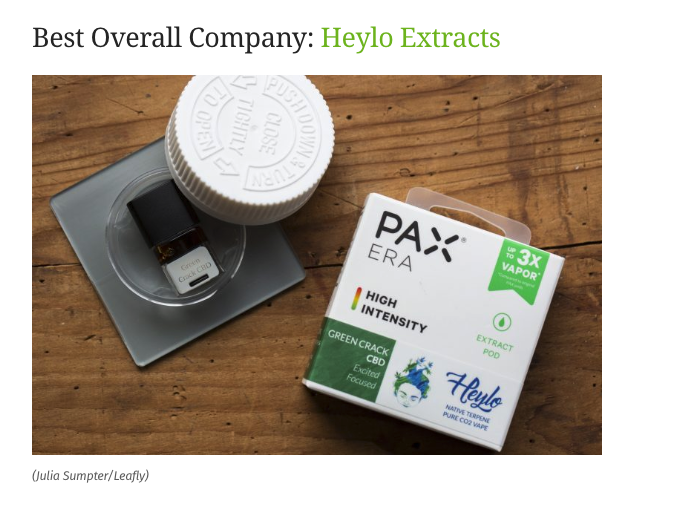 heylo best overall cannabis company leafly