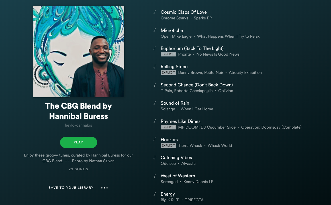 the cbg blend playlist by hannibal buress