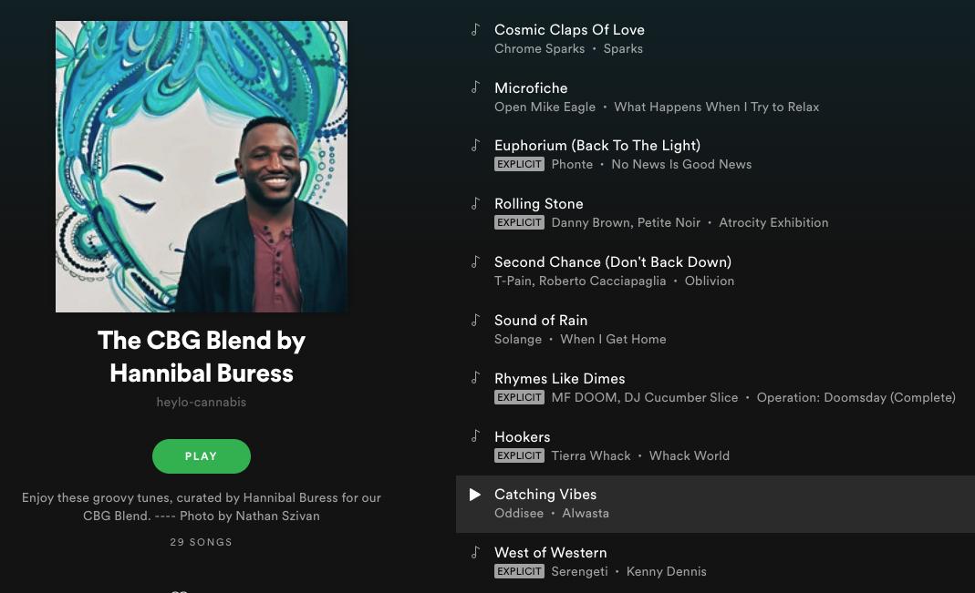 Spotify playlist by Hannibal Buress