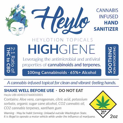 highiene cannabis hand sanitizer topical