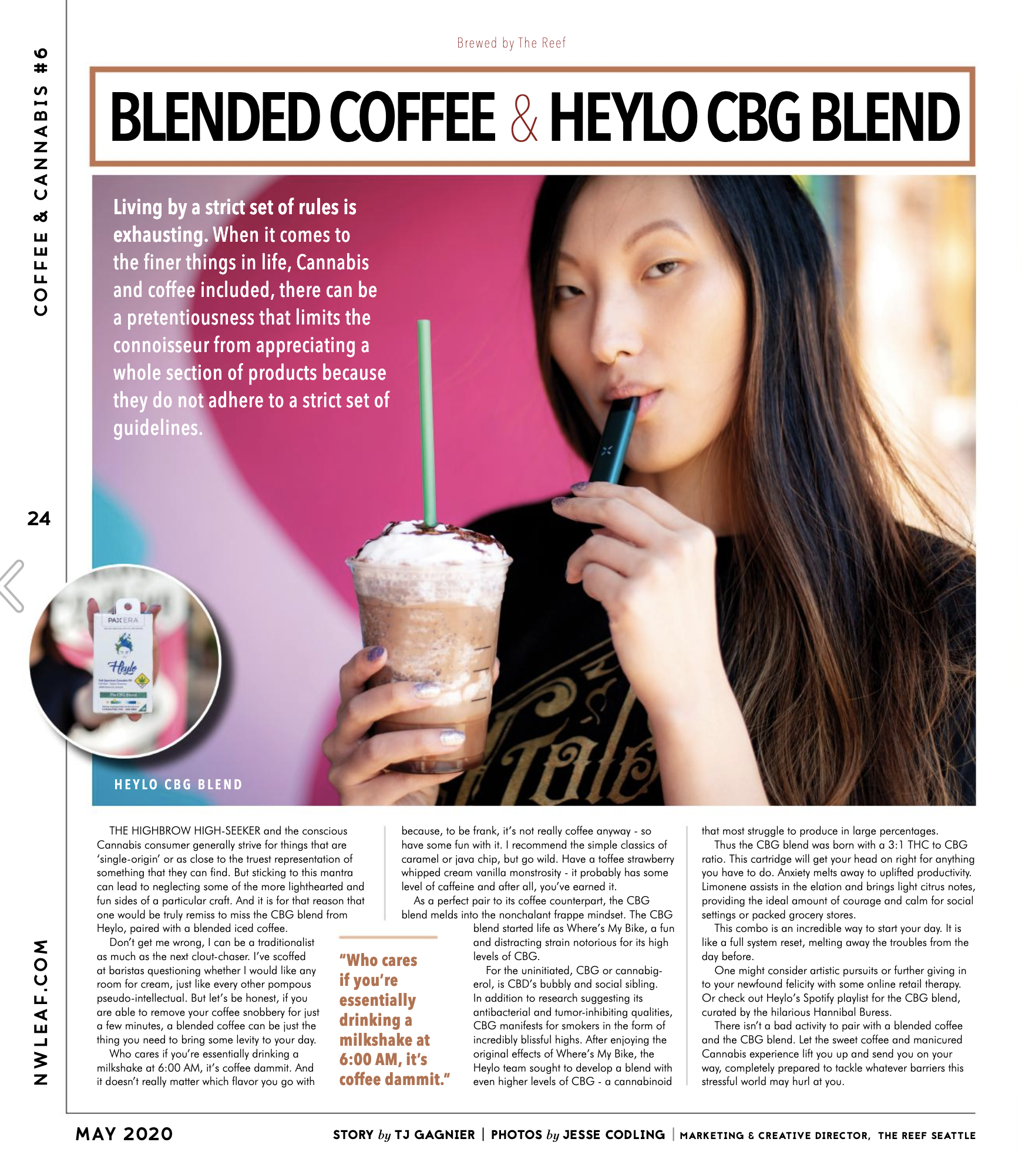 THE CBG Blend with coffee - a cannabis and caffeine pairing
