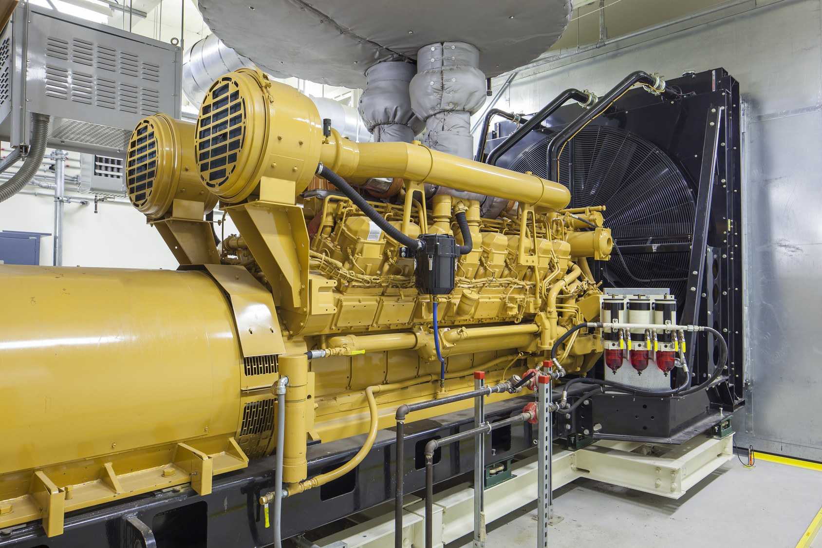 An industrial backup generator