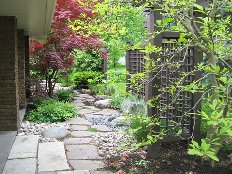 A unique and perfectly blended residential garden design by Judith S Wright