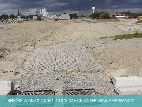 Before: initial construction works at Birock stormwater pond Click image for view after landscaping