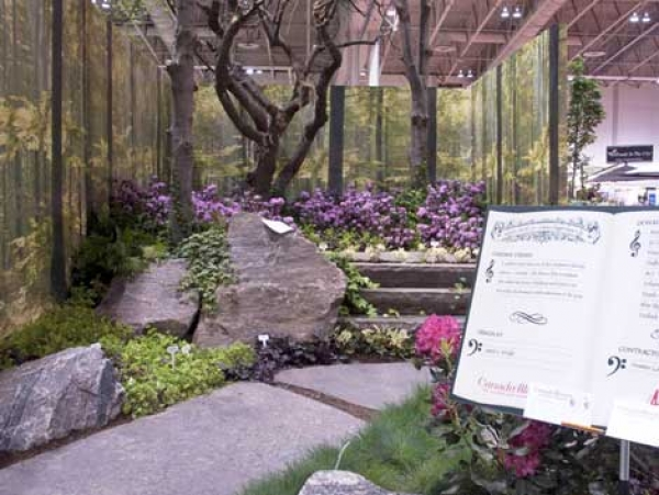 """Triple award winning """"Welcome to Ben's world"""" garden at Canada Blooms 2011"""