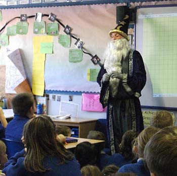 The Maths Wizard casting his spell...