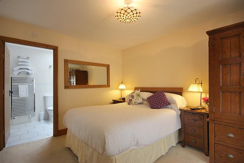 Bedroom in the Hayshed Cottage