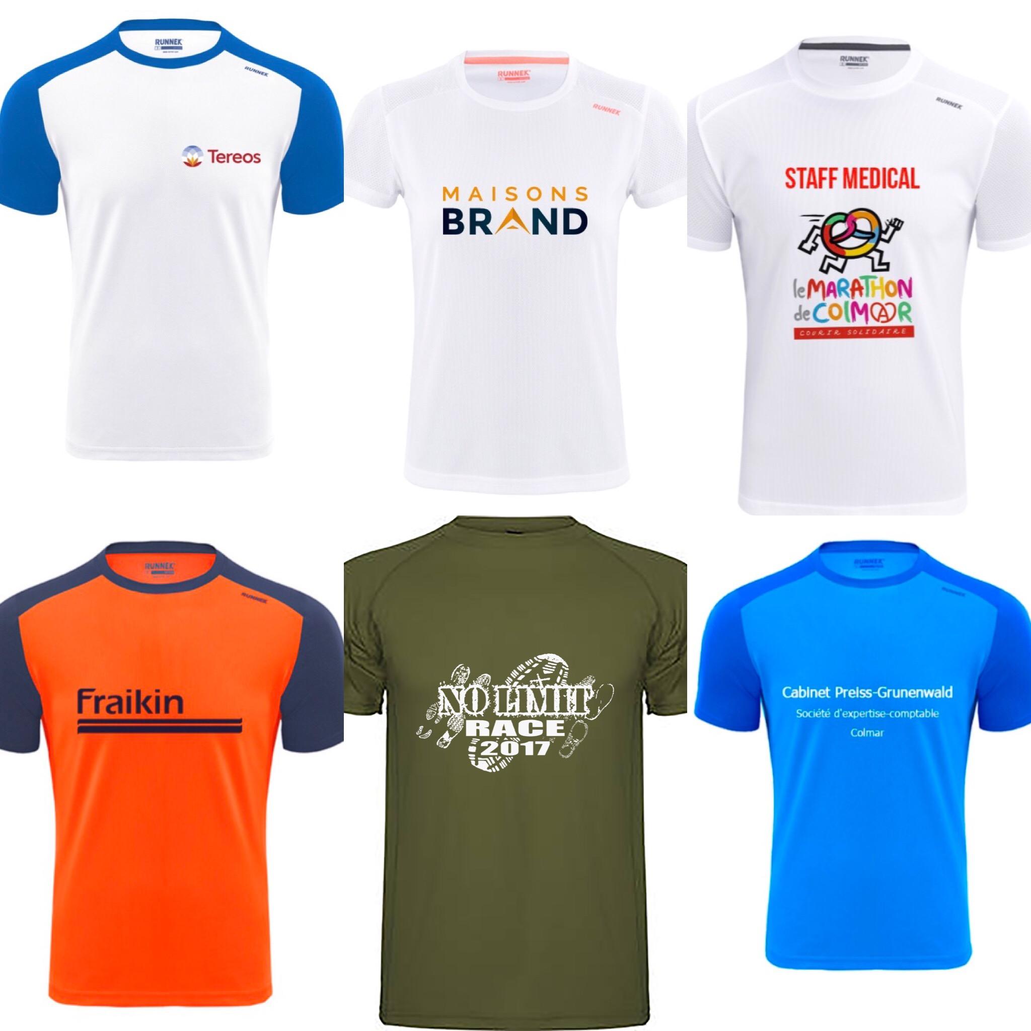 Tshirt Entreprises pour le Marathon de Colmar