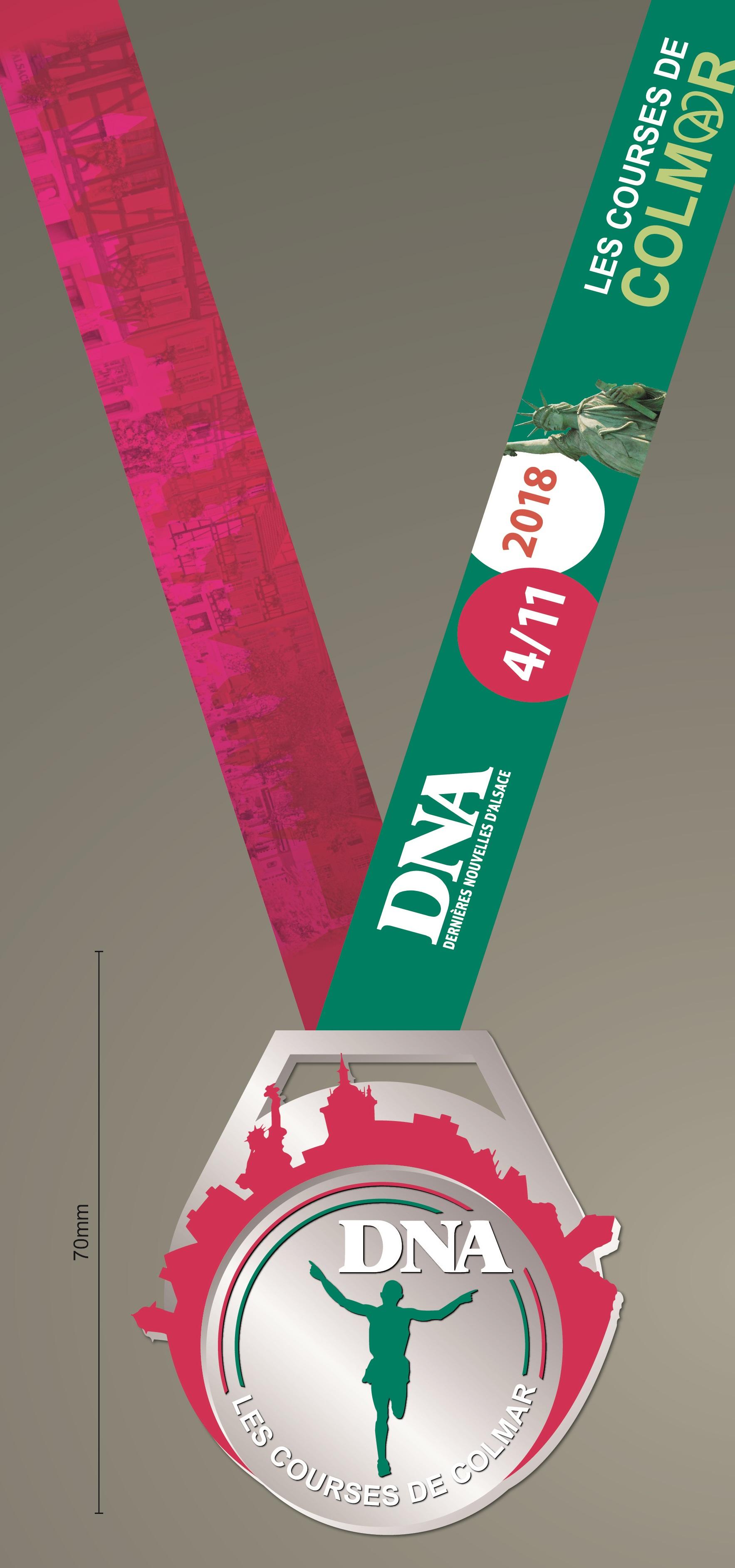 Médailles Course DNA Colmar