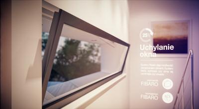 Powiadomienia o nie zamkniętym oknie w domu inteligentnym. Montaż czujników krańcowych. Dom Przyszłości Bialystok.