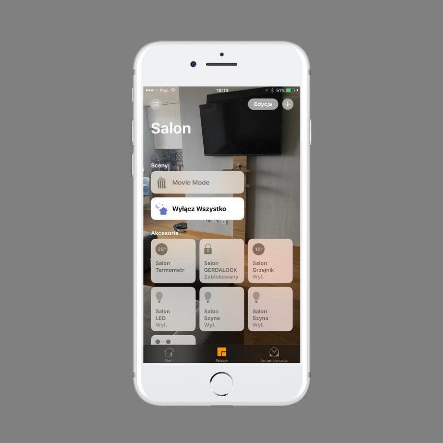 Inteligentny dom z Apple HomeKit. Oferta firmy Dom Przyszłości. Integracja platformy apple z platformą FIBARO Home Center 2. Przyjazny interfejs użytkownika. iPhone