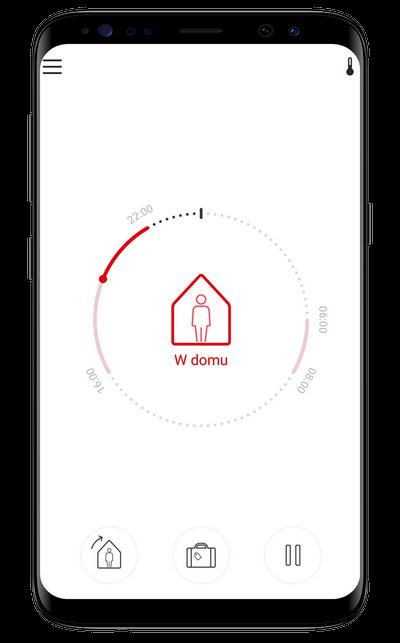 Sterowanie ogrzewaniem podłogowym aplikacja Danfoss Icon