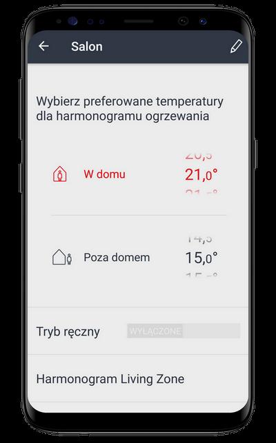 Tryb w domu lub poza domem sterowanie ogrzewaniem system zrealizowany w ponikle w województwie podlaskim