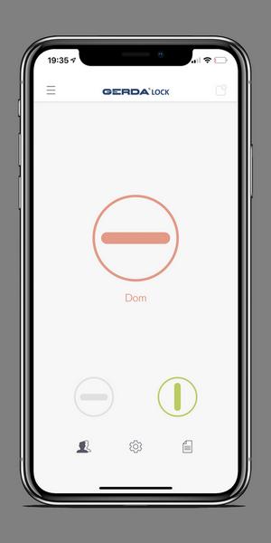 aplikacja do zamka Gerdalock V3 wygodne otwieranie drzwi