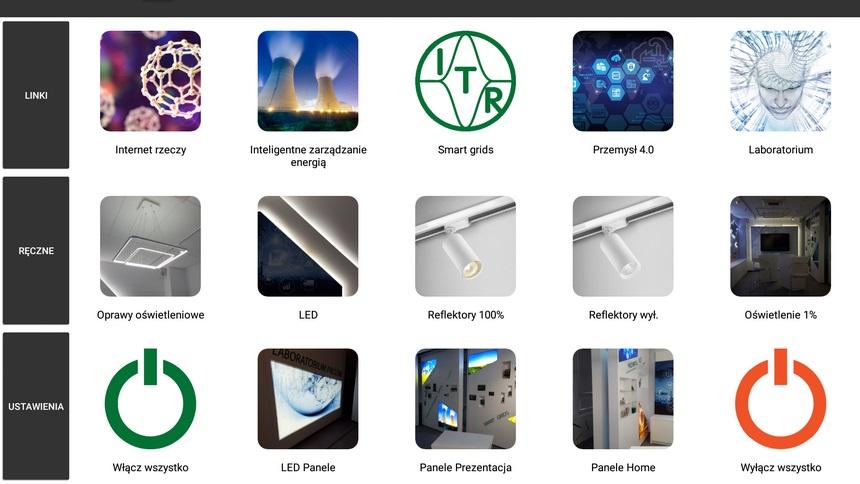 Aplikacje sterujące do automatyki budynkowej, realizacja firma dom przyszłości