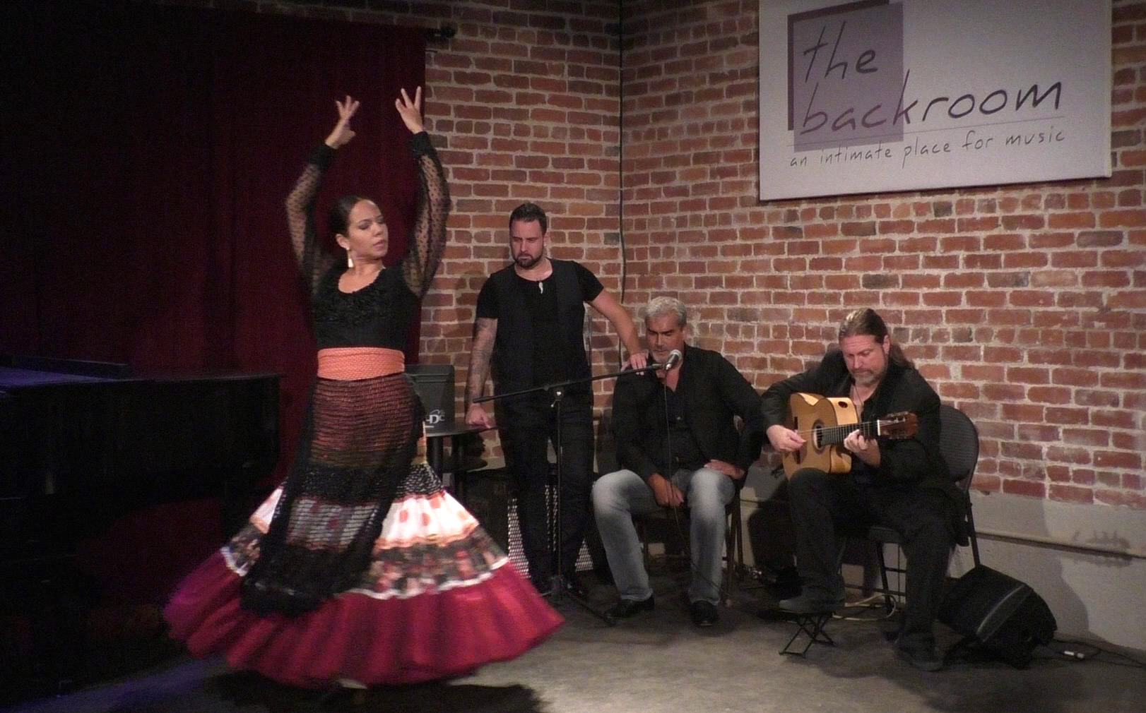 Performing at the Backroom with Jose Cortés, Jason, and Manuel. August 2016.