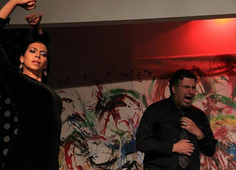 Dancing Tarantos at Flamenqueria in Sevilla with Kisko de Alcala and Socrates Mastrodimos