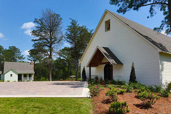 Front view of our onsite chapel