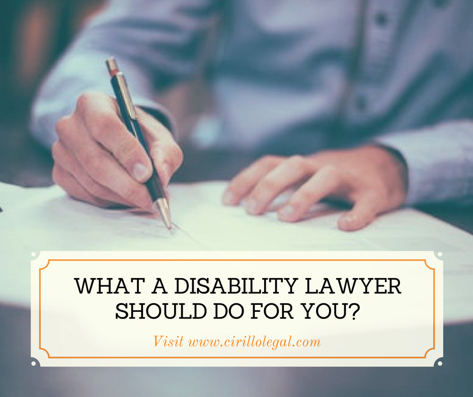 What a Disability Lawyer should do for you?