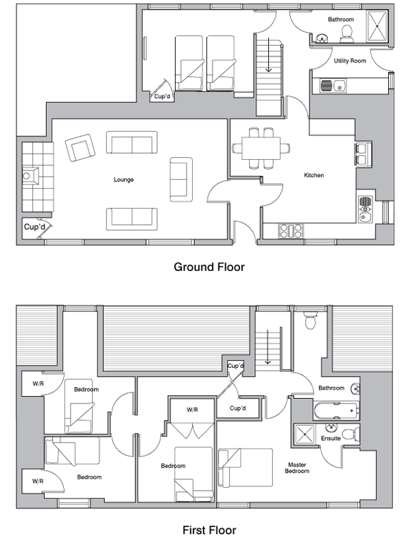 Farmhouse at wheel farm floorplan