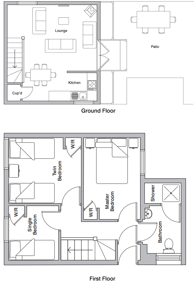 Mill wheel holiday cottage floorplan