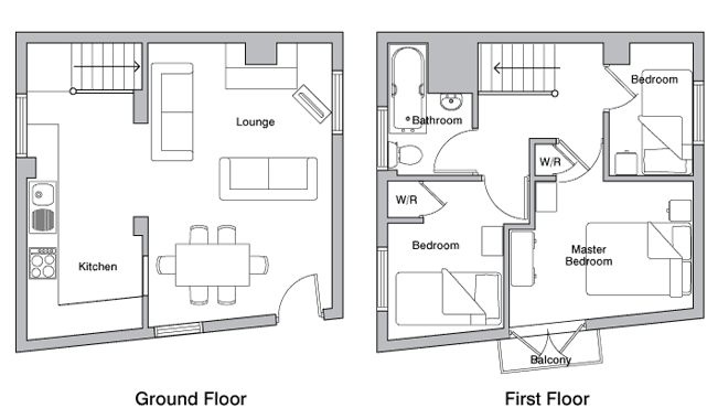 The Byre holiday cottage floor plan