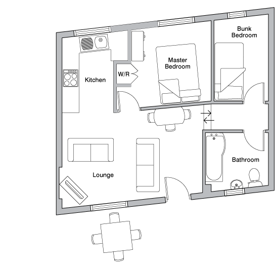 The Dairy holiday cottage floorplan