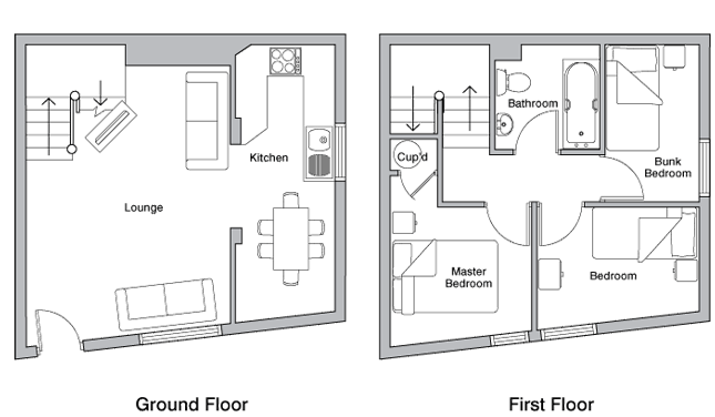 Shippen holiday cottage floor plan