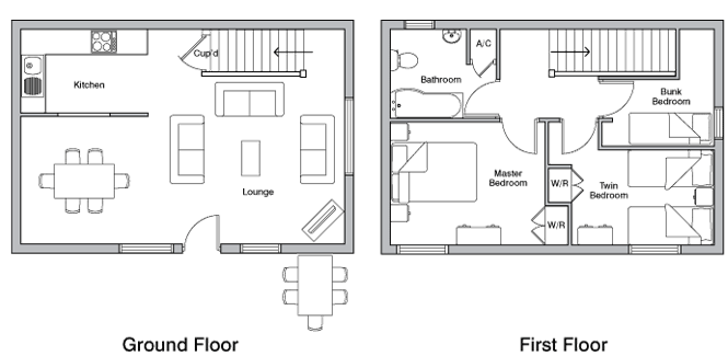 Granary holiday cottage floor plan