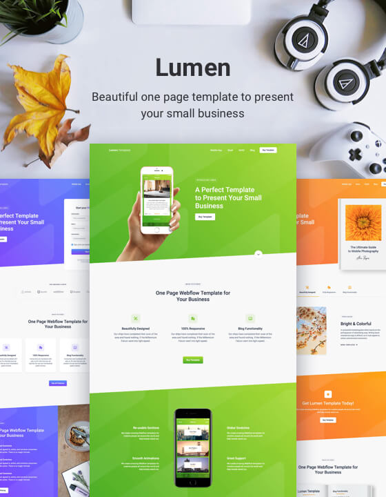 One Pager Template | Lumen One Page Html5 Responsive Website Template