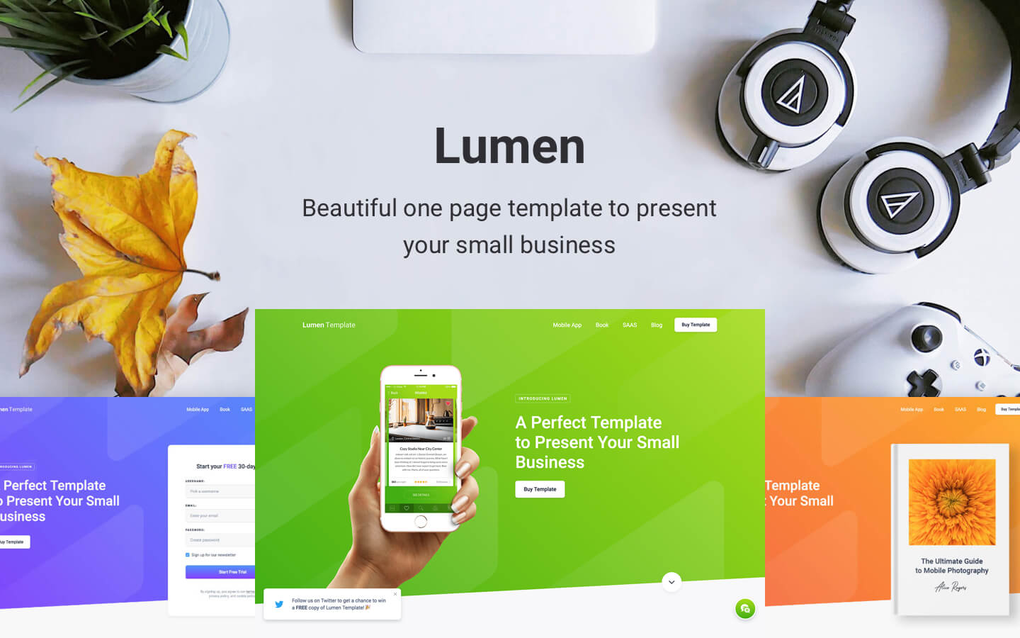 Lumen - One Page HTML5 Responsive Website Template