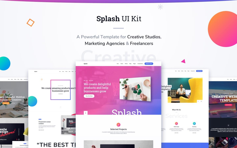 Splash Ui Kit Html5 Responsive Website Template