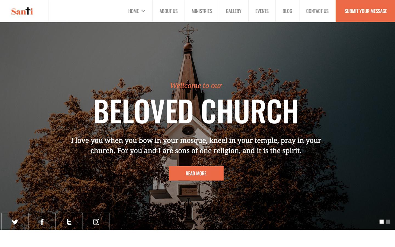 Santi Church Html5 Responsive Website Template