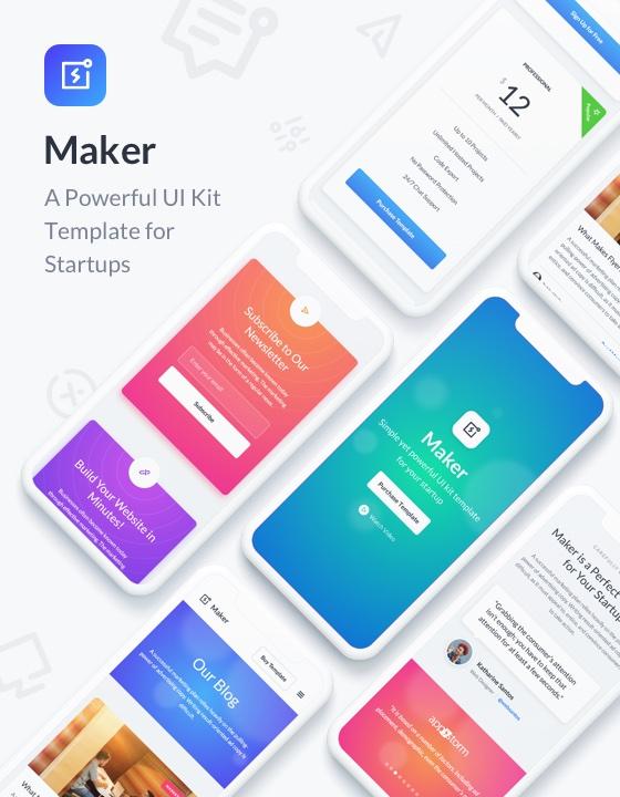 Maker Ui Kit Html5 Responsive Website Template