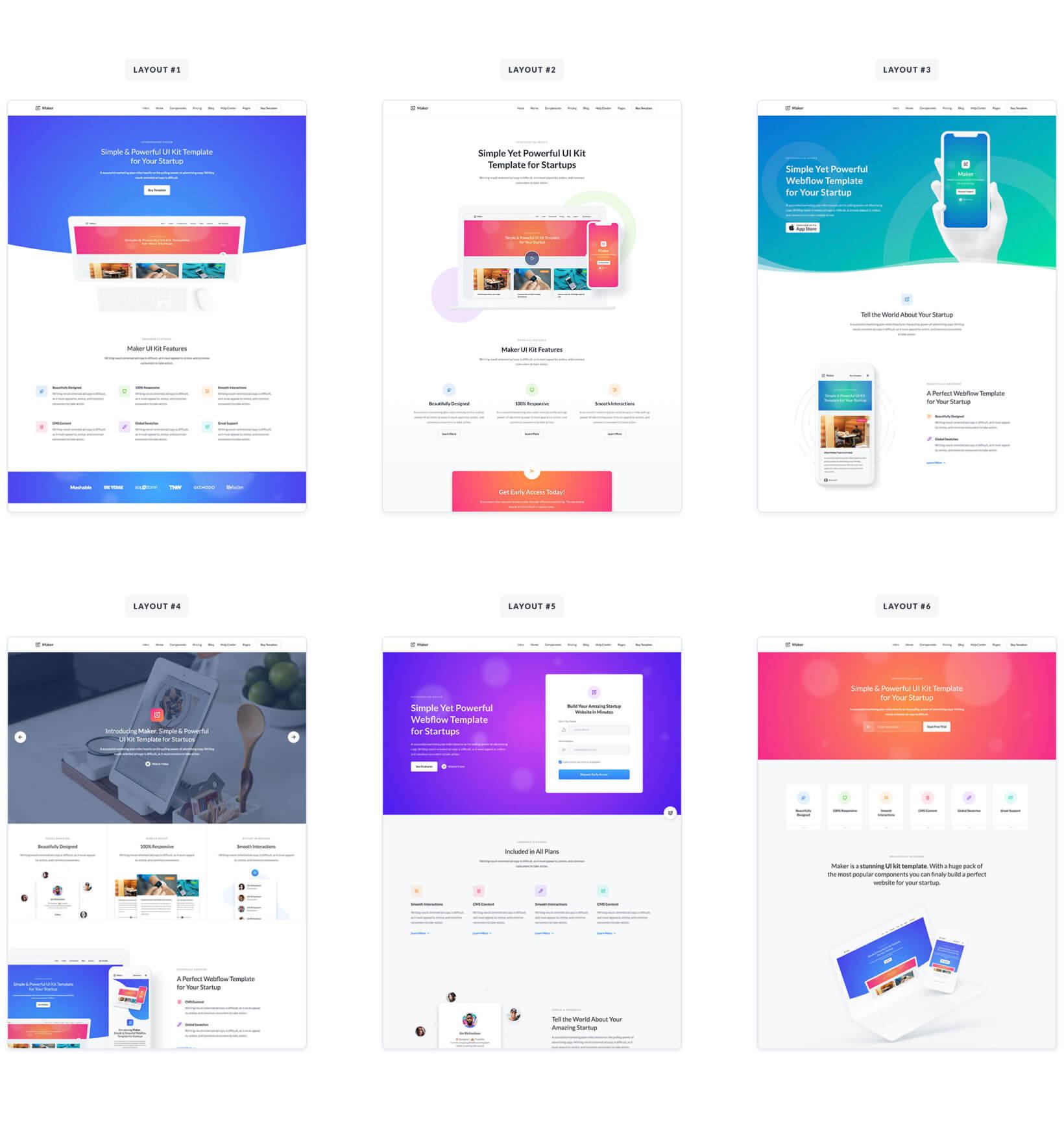 On Maker Template | Maker Ui Kit Html5 Responsive Website Template