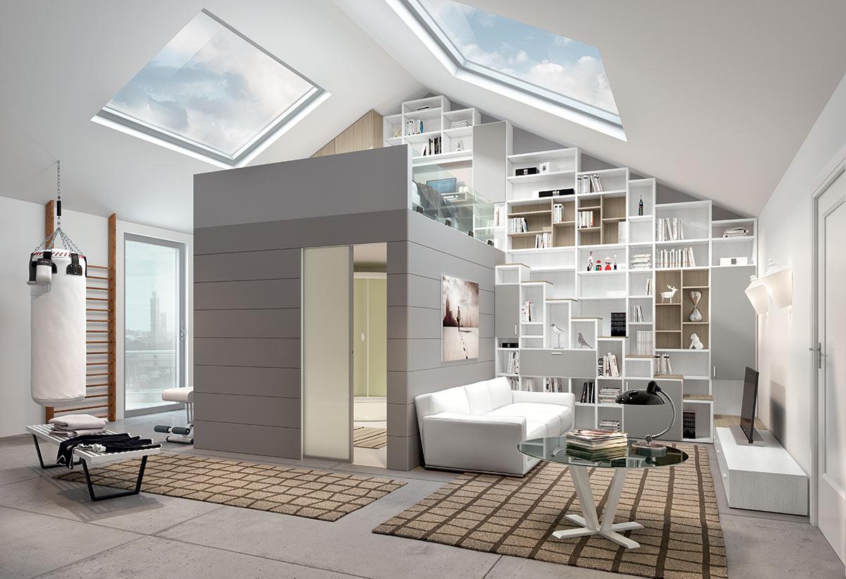 Photo d'une chambre très bien aménagée