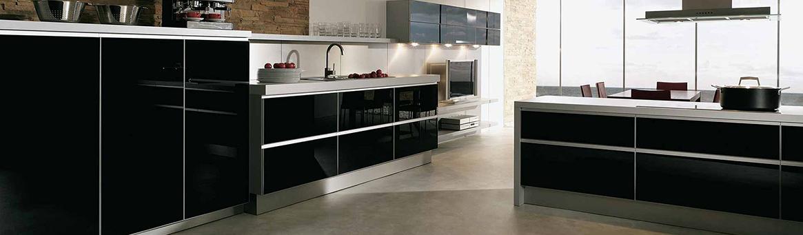 Photo d'une cuisine noire vendue chez avenir cuisine