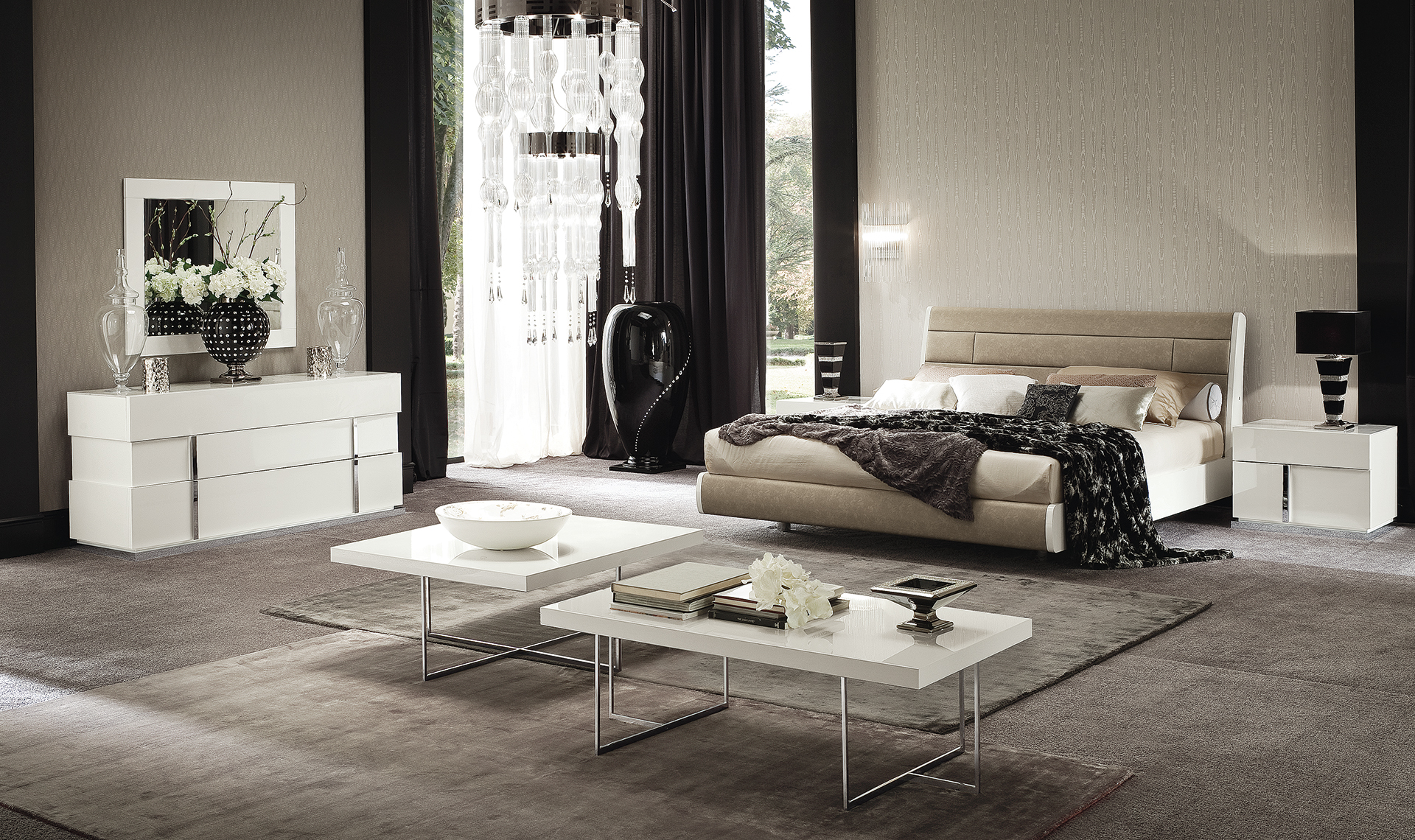 Canova Bedroom FIDIA 160 Bed Overview