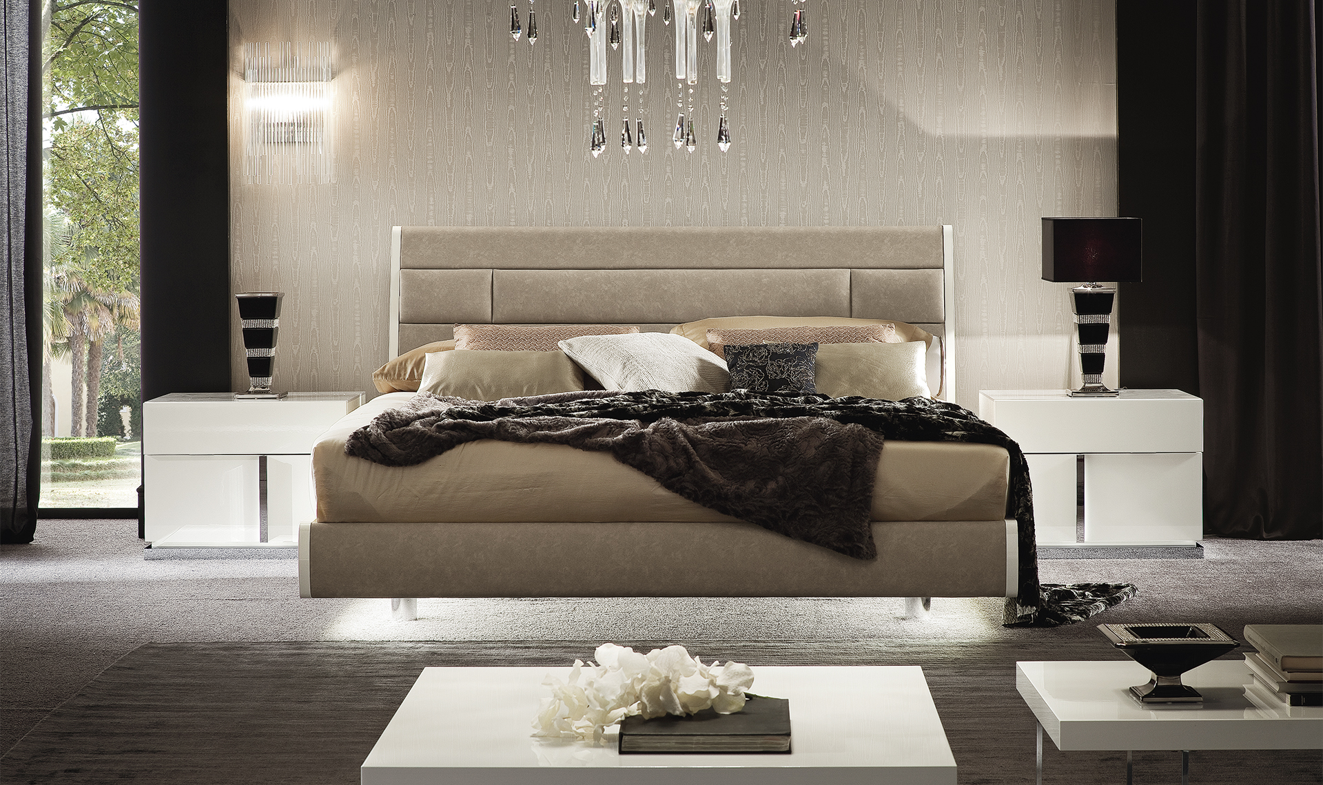 Canova Bedroom FIDIA 160 Bed Straight view