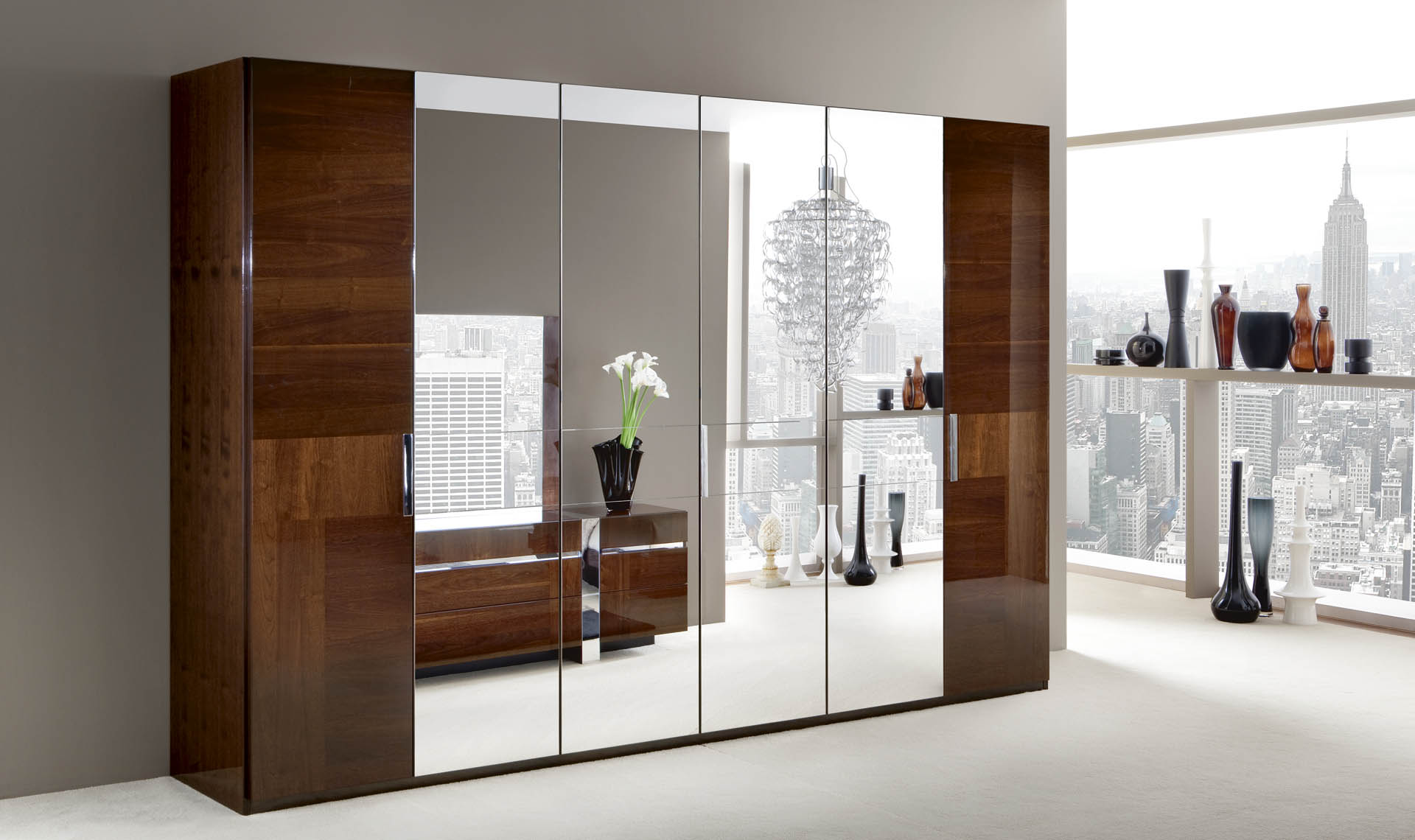 Italia  Bedroom 6/D Swinging Wardrobe