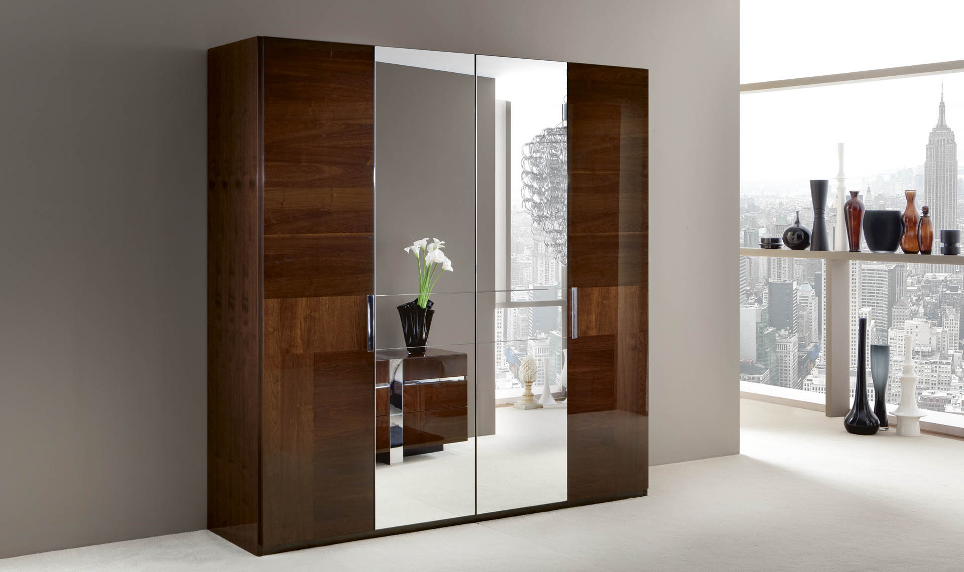 Italia  Bedroom 4/D Swinging Wardrobe