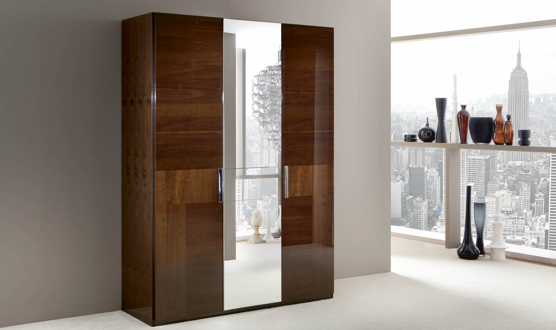 Italia Bedroom 3/D Swinging Wardrobe